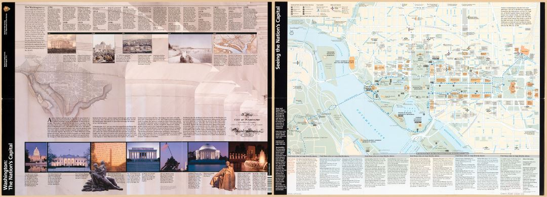 Large scale detailed tourist map of the Washington the Nation's Capital - 2008