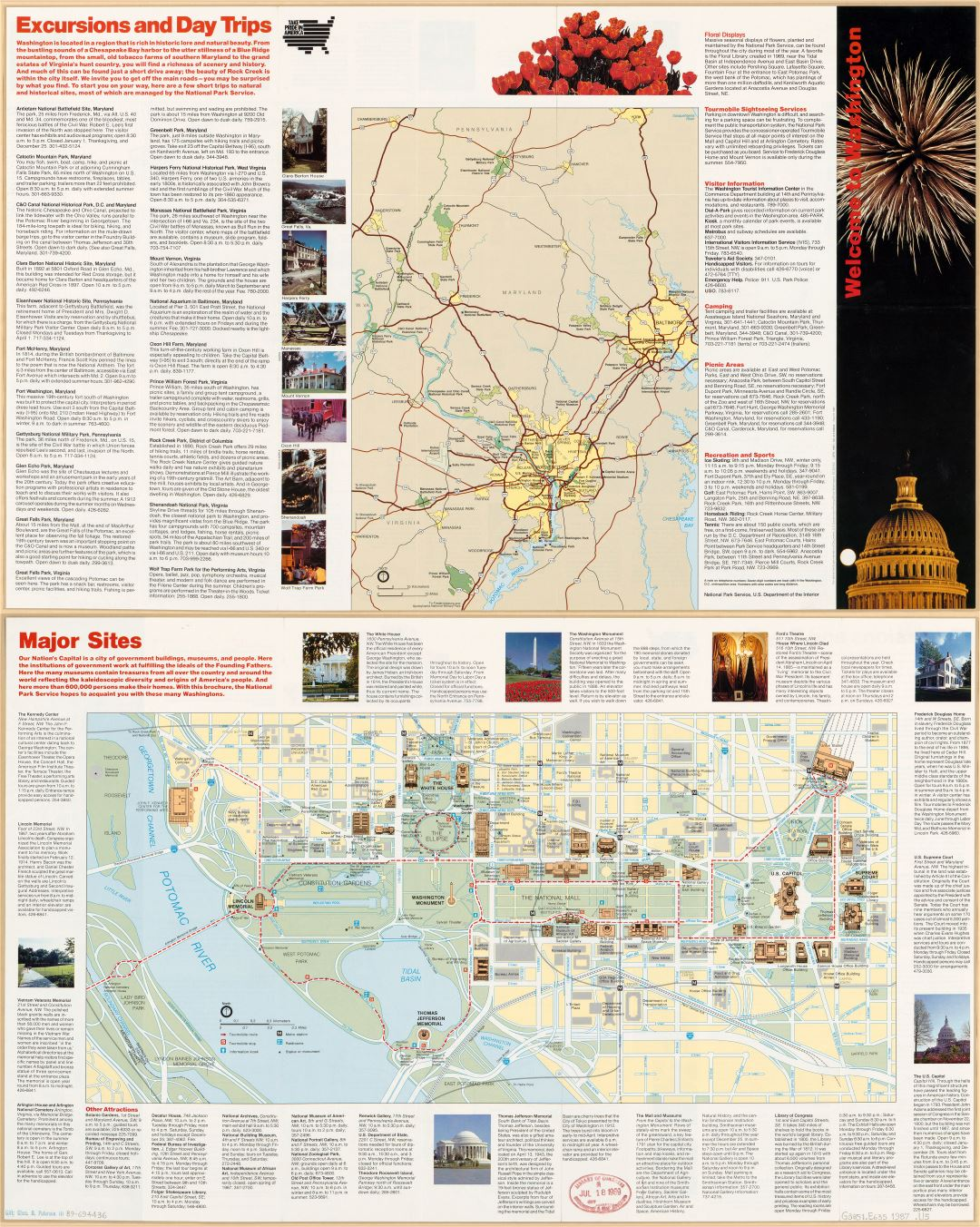 Large scale detailed Washington D.C. travel map - 1987