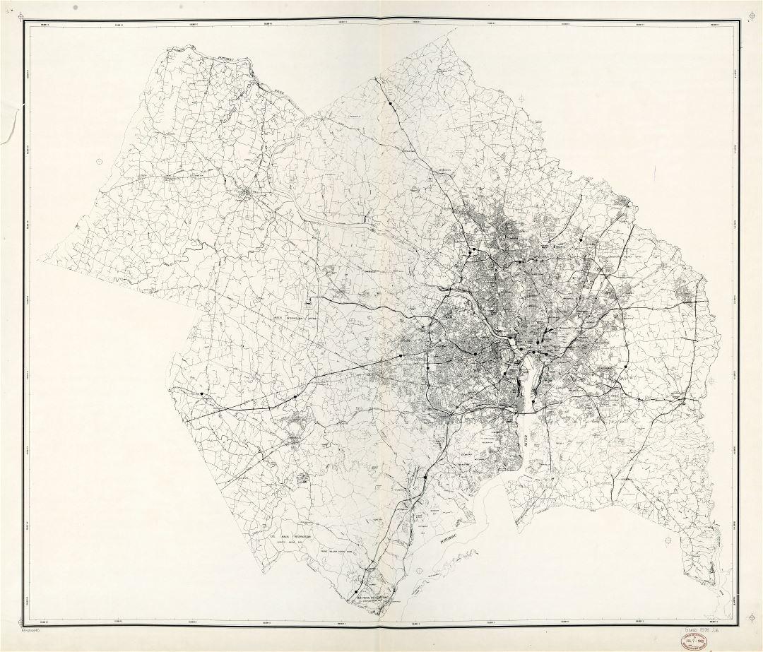 Large scale map of National Capital Region Washington DC 1976