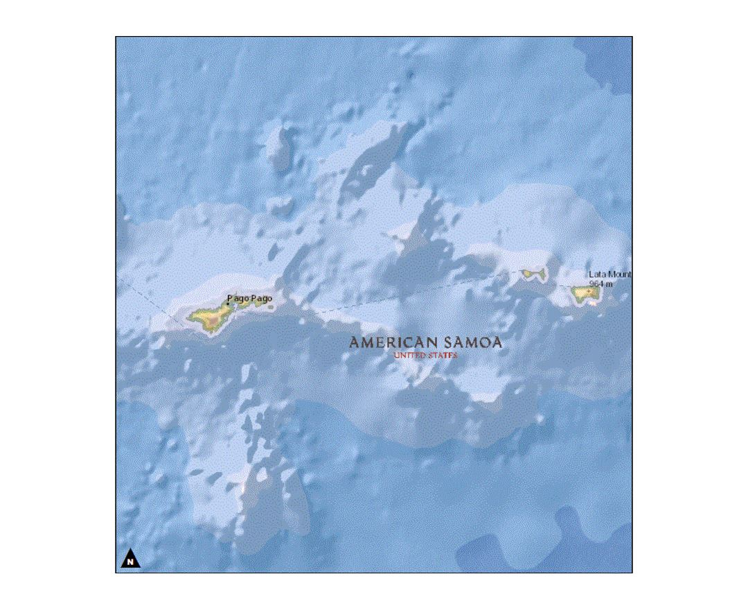 detailed map of american samoa
