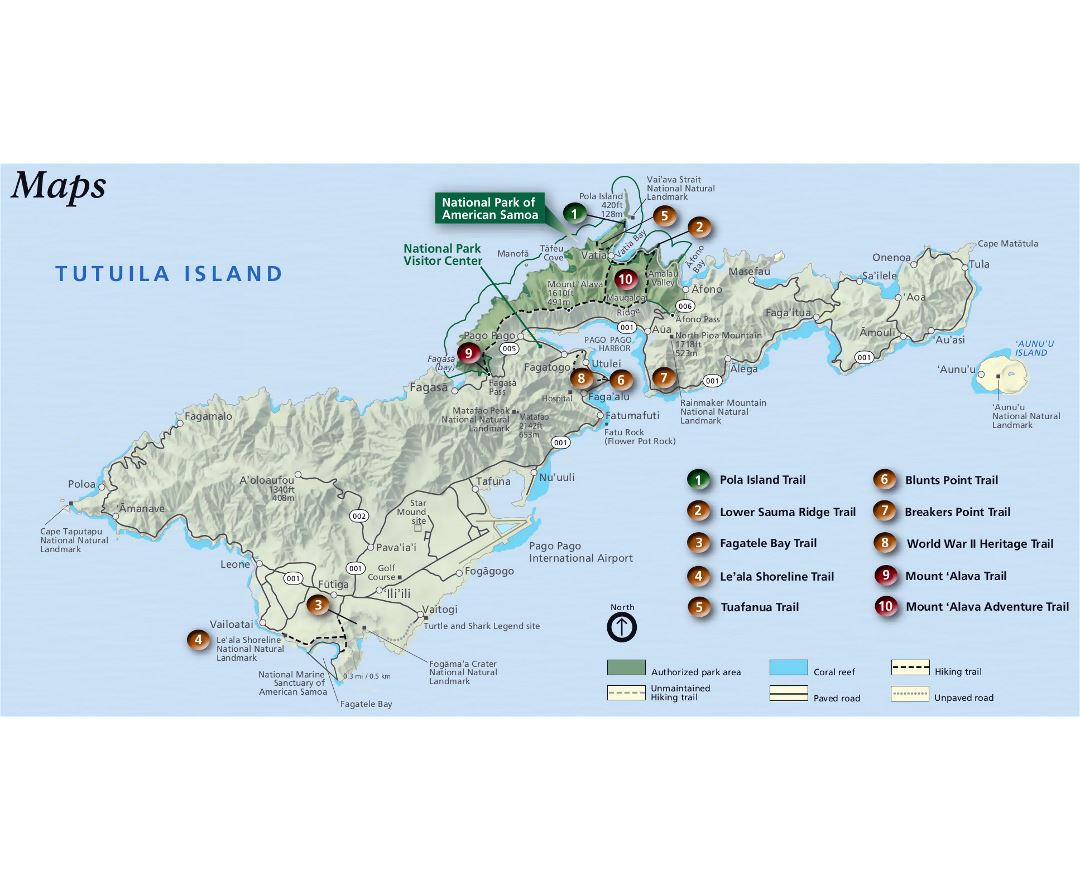 Maps of American Samoa Detailed map of American Samoa in English