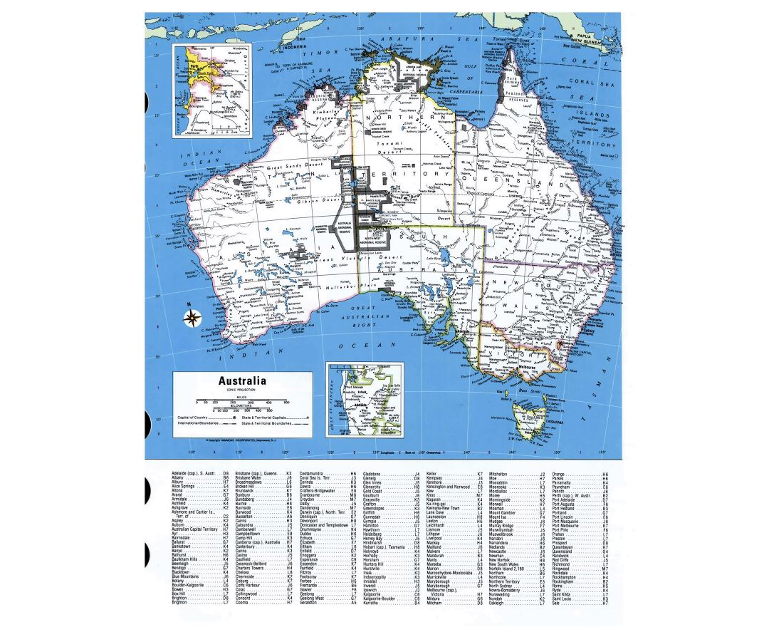 Detailed administrative map of Australia