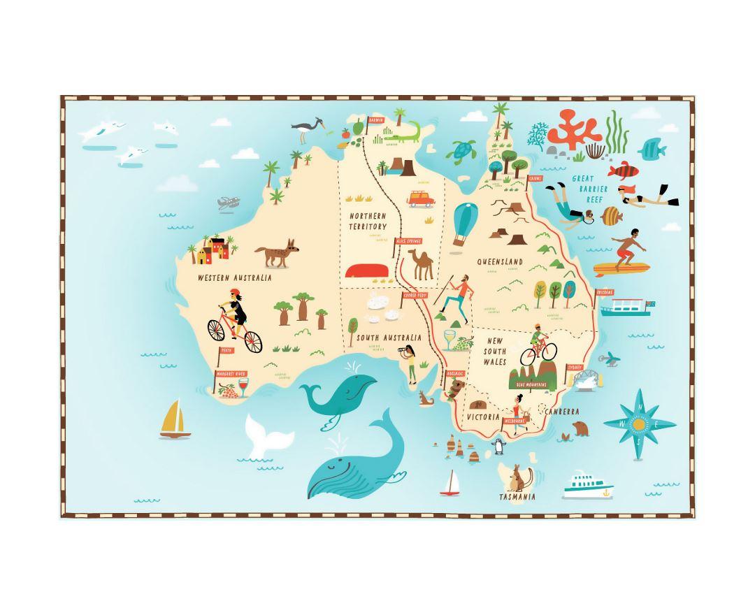 Australia Road Maps Tourist Travel Map of Australia 5392135