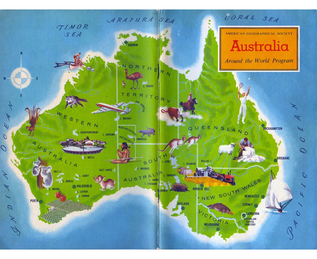 detailed travel around australia map