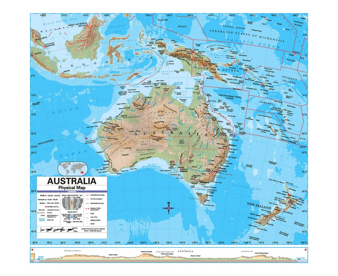 Image of: Maps Of Australia Collection Of Maps Of Australia Oceania Mapsland Maps Of The World