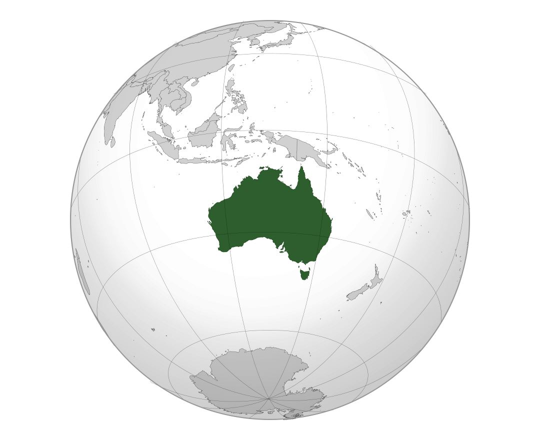 Large location map of Australia