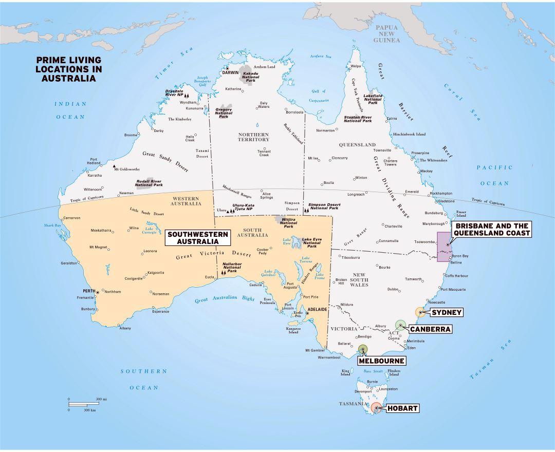 Australia Land Map.Maps Of Australia Collection Of Maps Of Australia Oceania