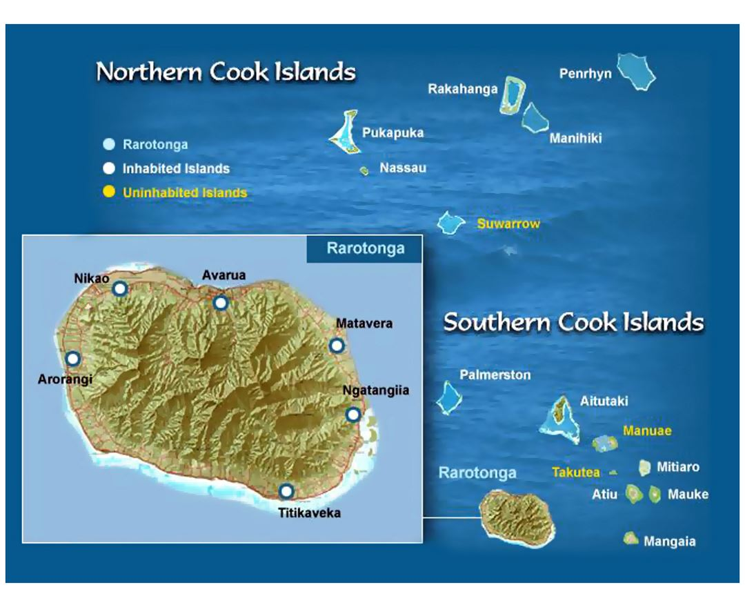 Maps of Cook Islands Detailed map of Cook Islands in English