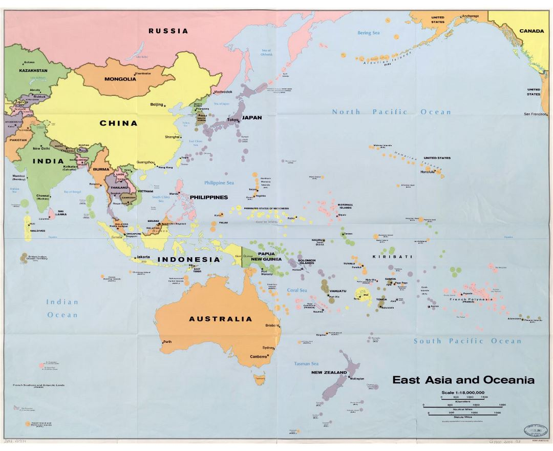 Maps Of Oceania And Oceanian Countries Political Maps Road And - Map oceania