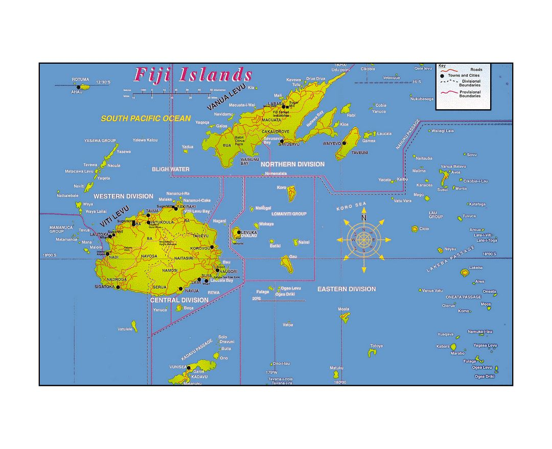 Maps of fiji detailed map of fiji in english tourist map travel detailed fiji islands map with other marks gumiabroncs Gallery