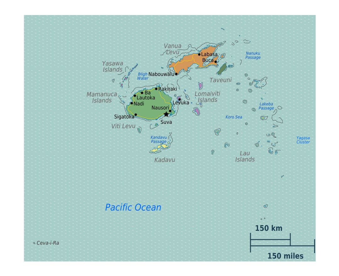 Maps of fiji detailed map of fiji in english tourist map travel large detailed regions map of fiji gumiabroncs Image collections