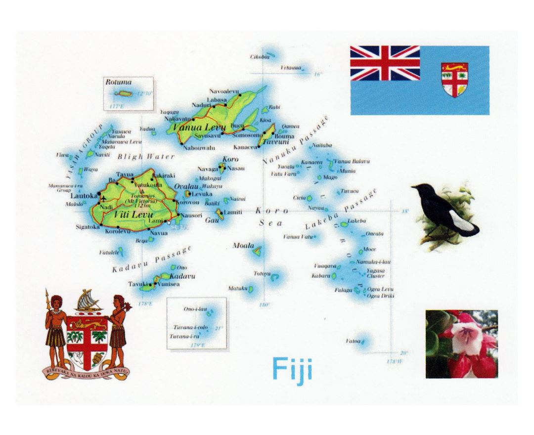 Maps of Fiji | Collection of maps of Fiji | Oceania | Mapsland ...