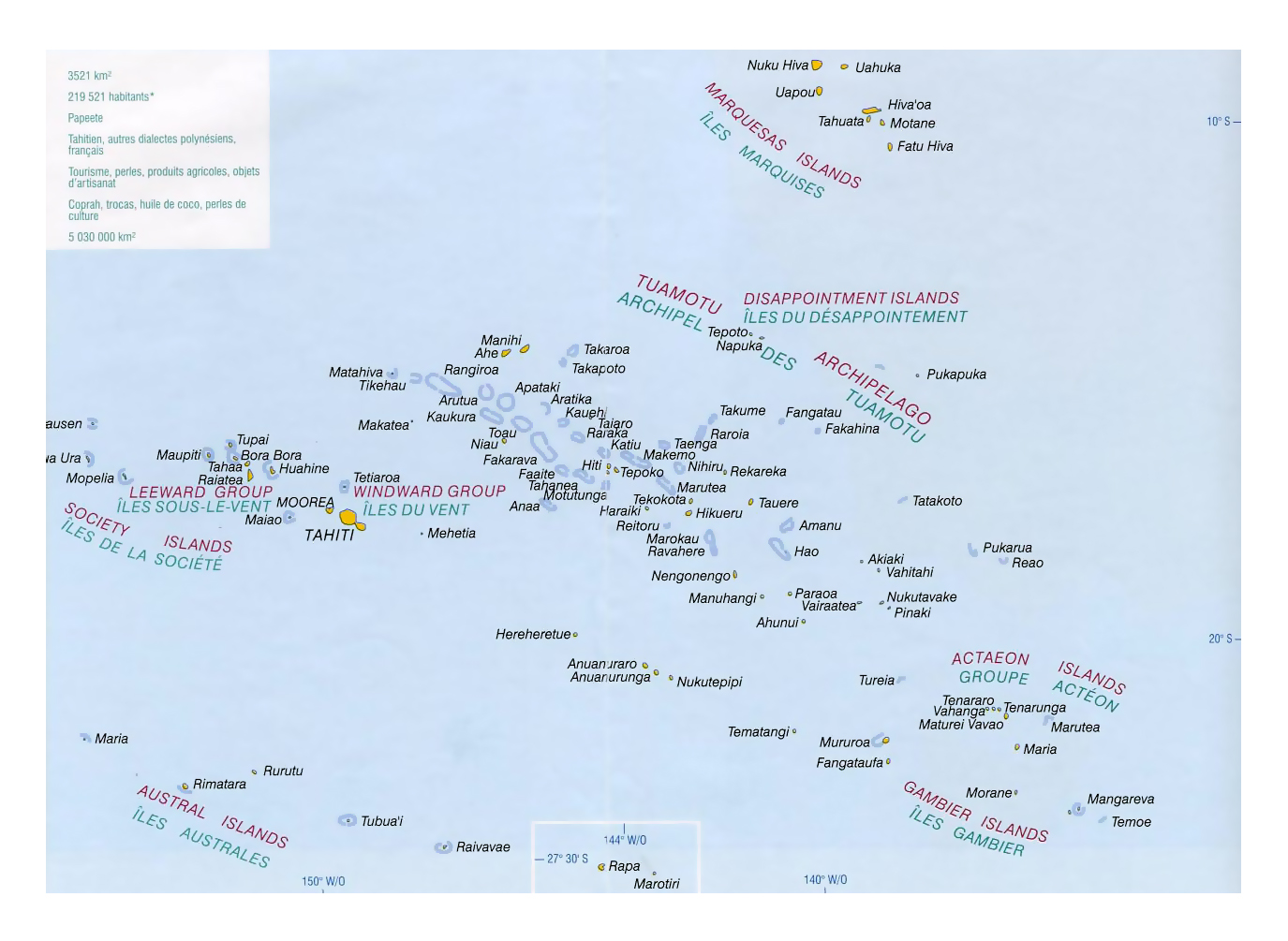 Detailed political map of french polynesia french polynesia detailed political map of french polynesia gumiabroncs Gallery