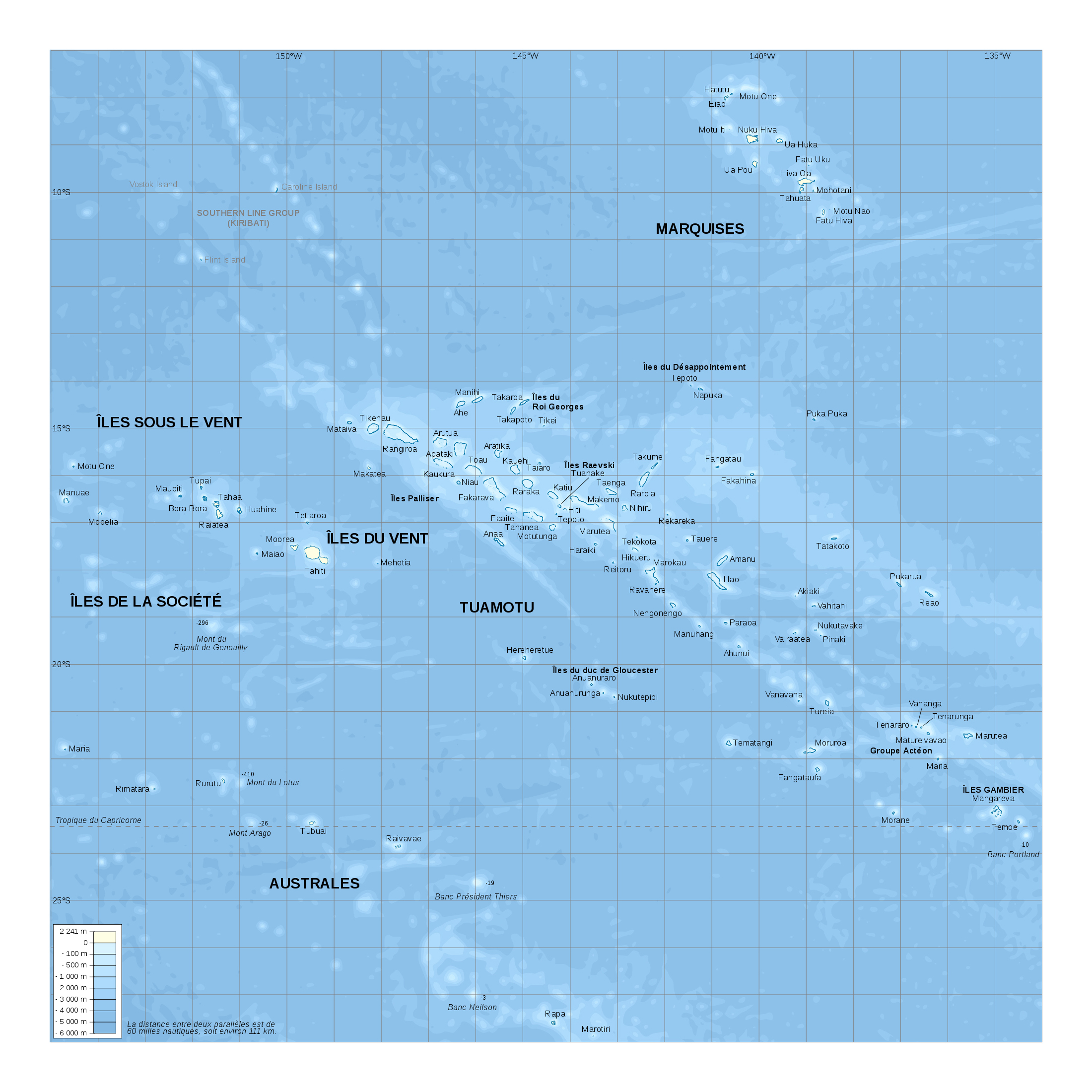 Large detailed elevation map of french polynesia french polynesia large detailed elevation map of french polynesia gumiabroncs Images