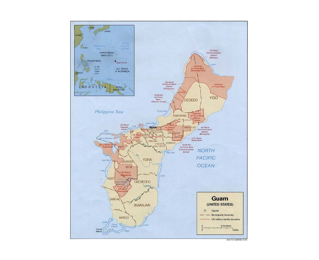 Maps Of Guam Detailed Map Of Guam In English Tourist Map - Map of guam