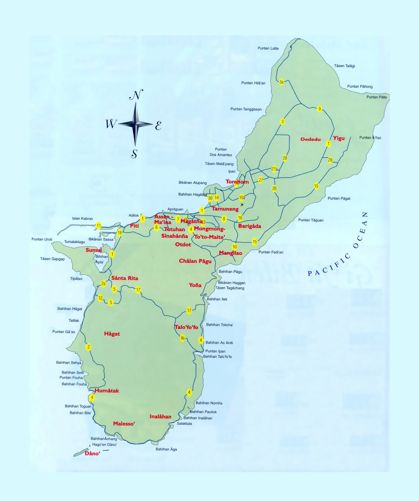 Large tourist map of Guam with other marks | Guam | Oceania ...