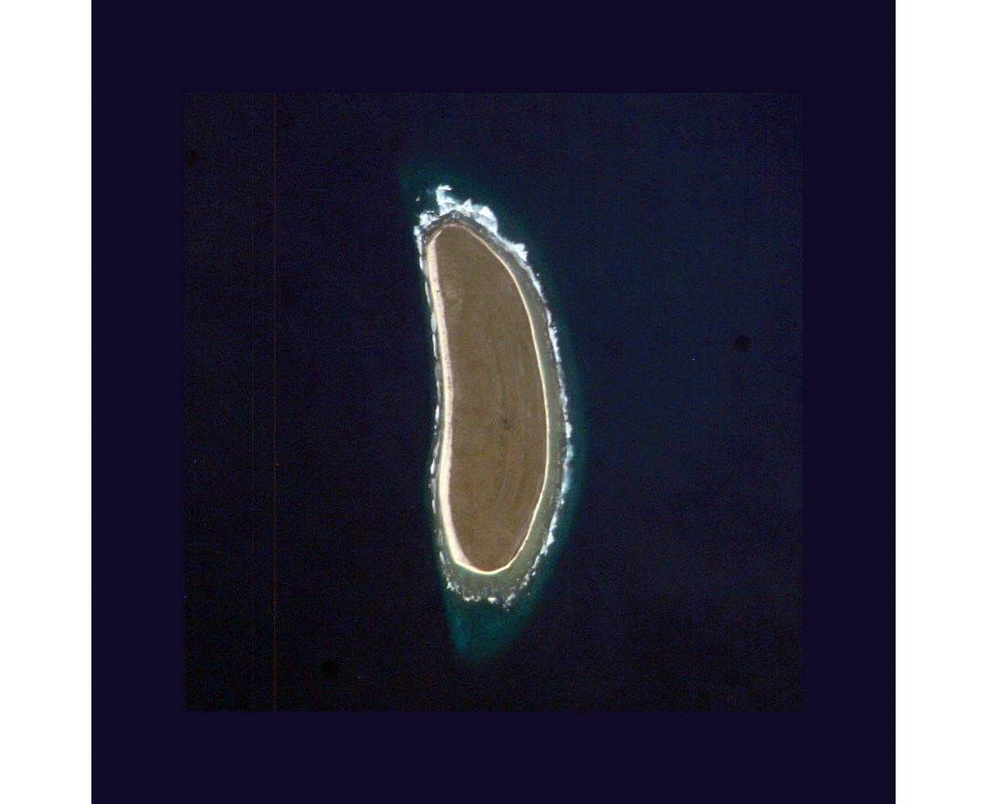 Detailed satellite map of Howland Island