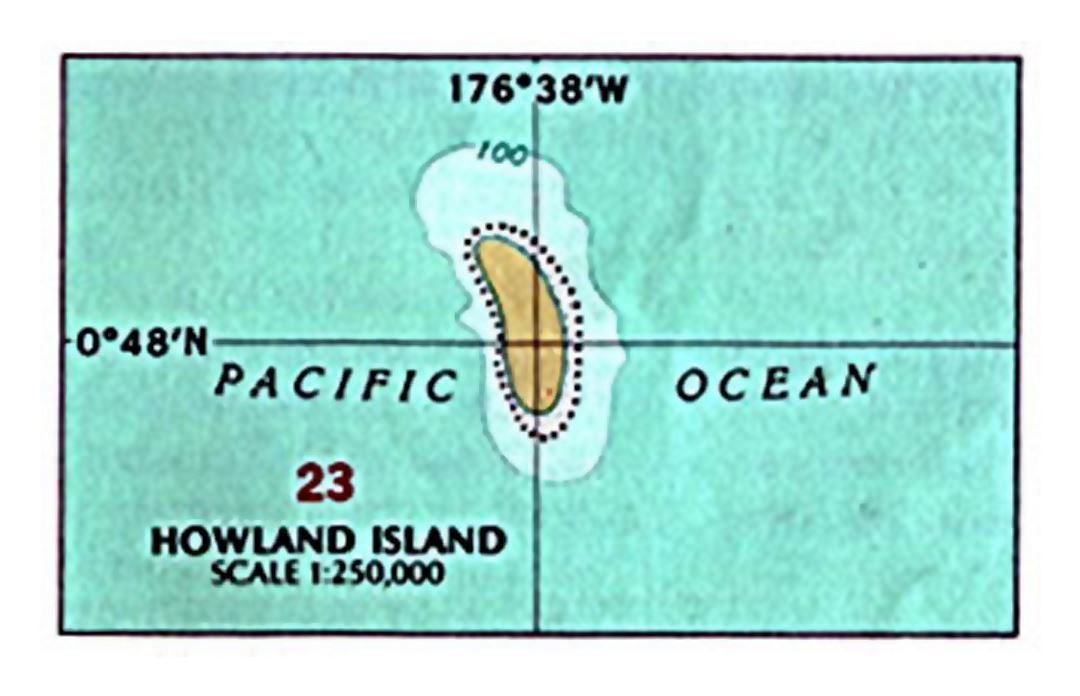 Map of Howland Island