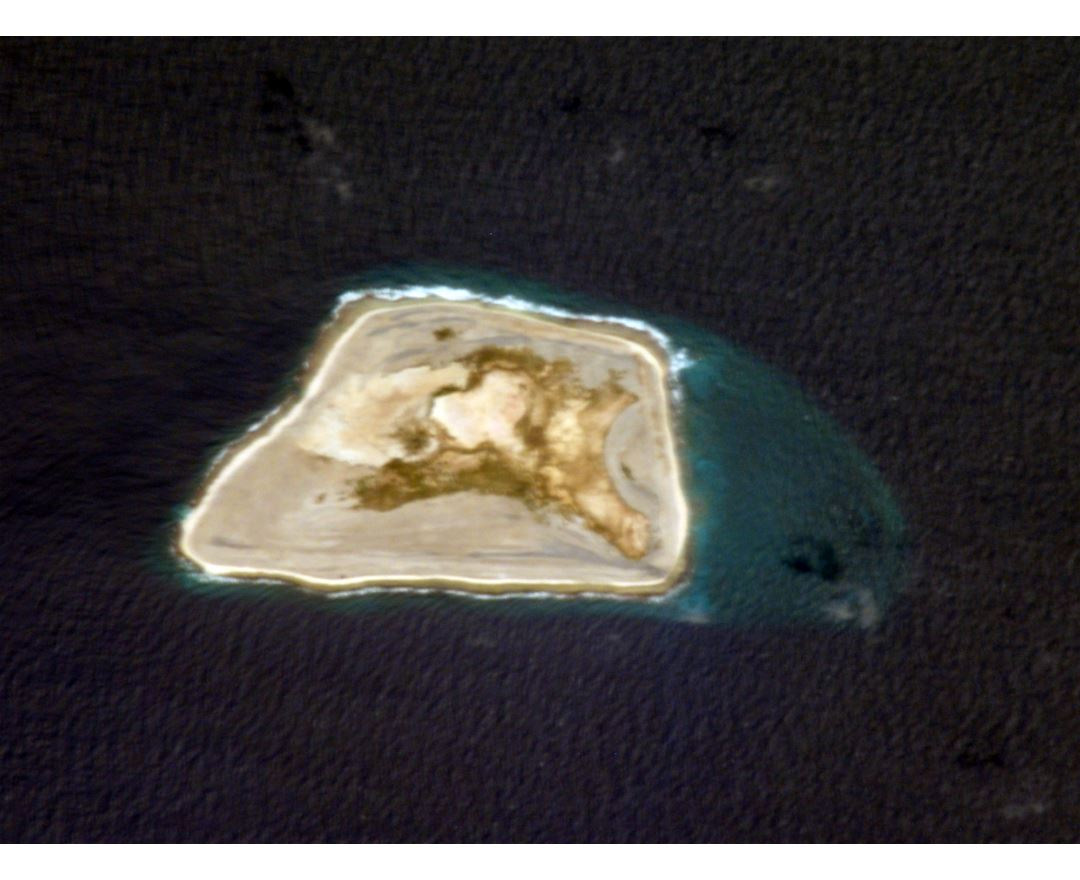 Large satellite map of Jarvis Island
