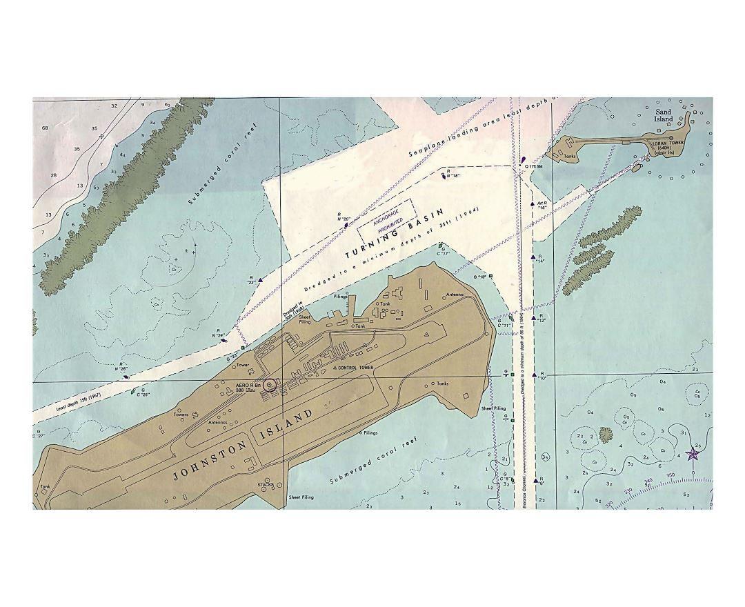 Maps of Johnston Atoll Detailed map of Johnston Atoll in English