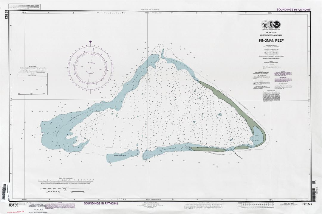 Large scale nautical map of Kingman Reef