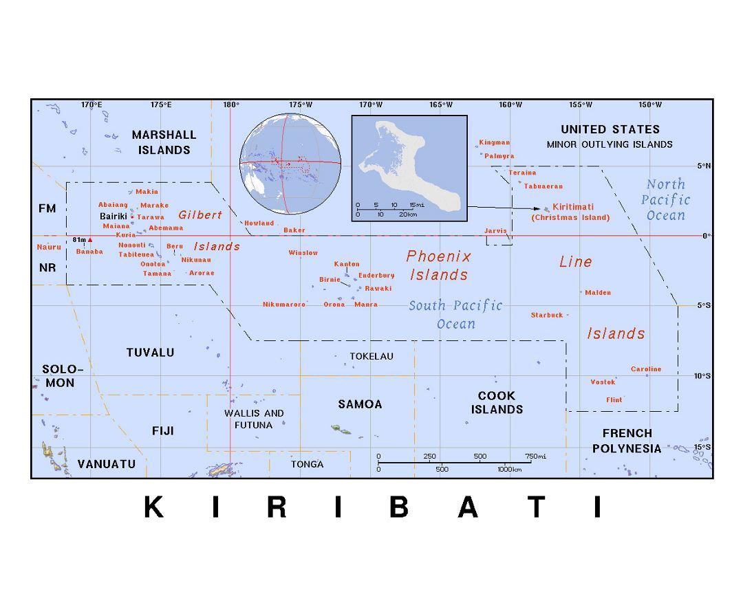 Maps of Kiribati | Collection of maps of Kiribati | Oceania ... Kiribati Map on niue map, saint lucia map, christmas island, hawaiian islands map, wallis and futuna map, mayotte map, french polynesia, new caledonia map, kosovo map, tuvalu map, solomon islands, vanuatu map, micronesia map, phoenix islands map, eritrea map, solomon islands map, nauru map, american samoa, papua new guinea map, cook islands, marshall islands map, new caledonia, tokelau map, guadeloupe map, federated states of micronesia, malaysia map, oceania map, marshall islands,