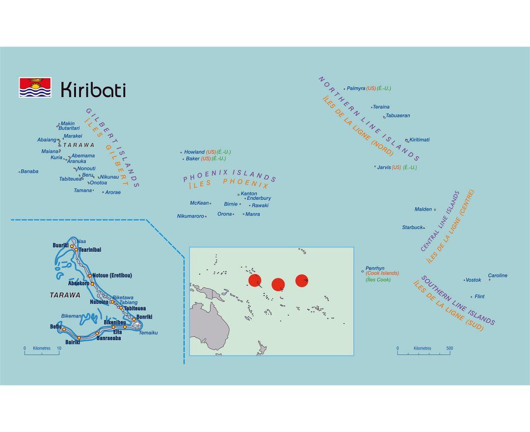 Maps of Kiribati Detailed map of Kiribati in English Tourist map