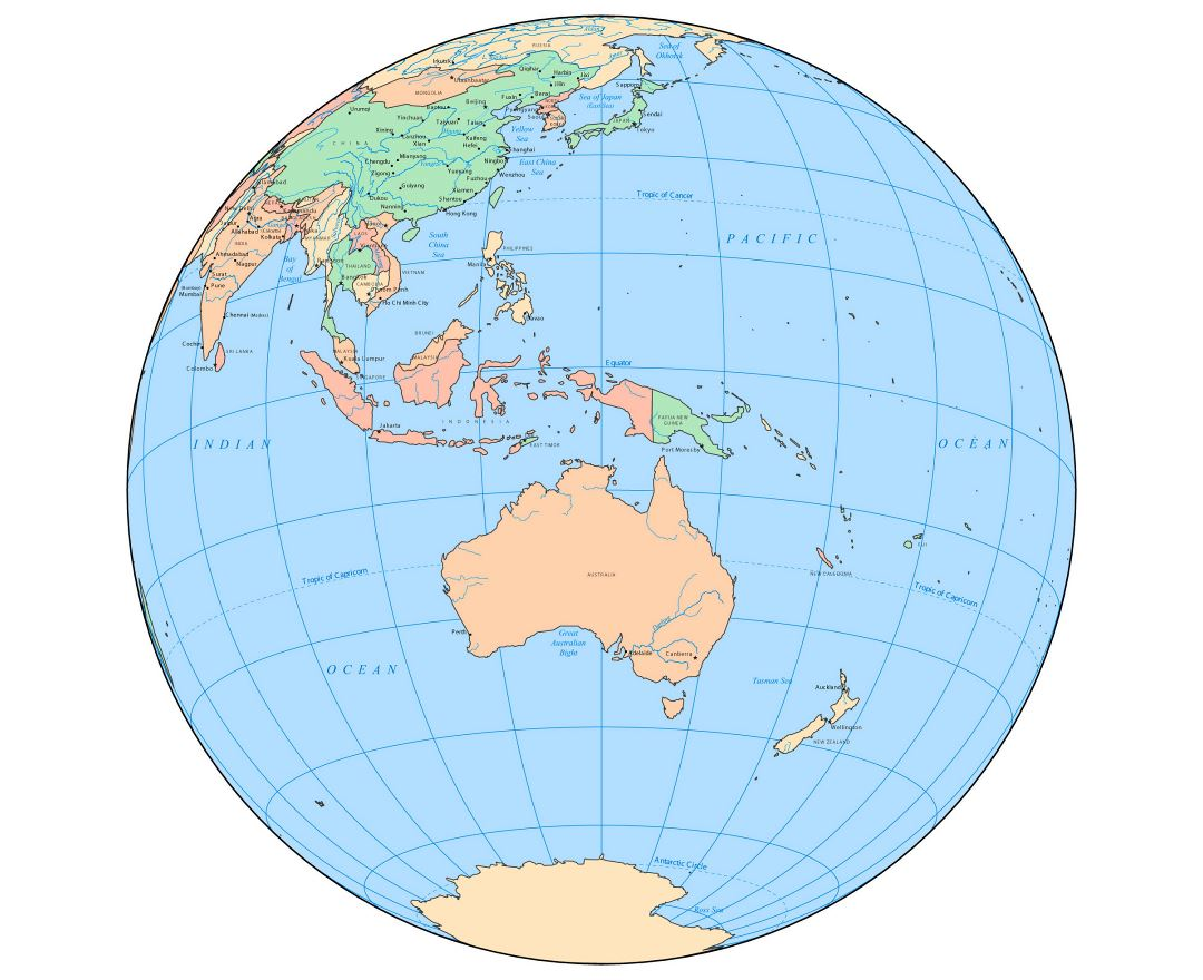 Australia Map Of The World.Maps Of Oceania And Oceanian Countries Collection Of Maps Of