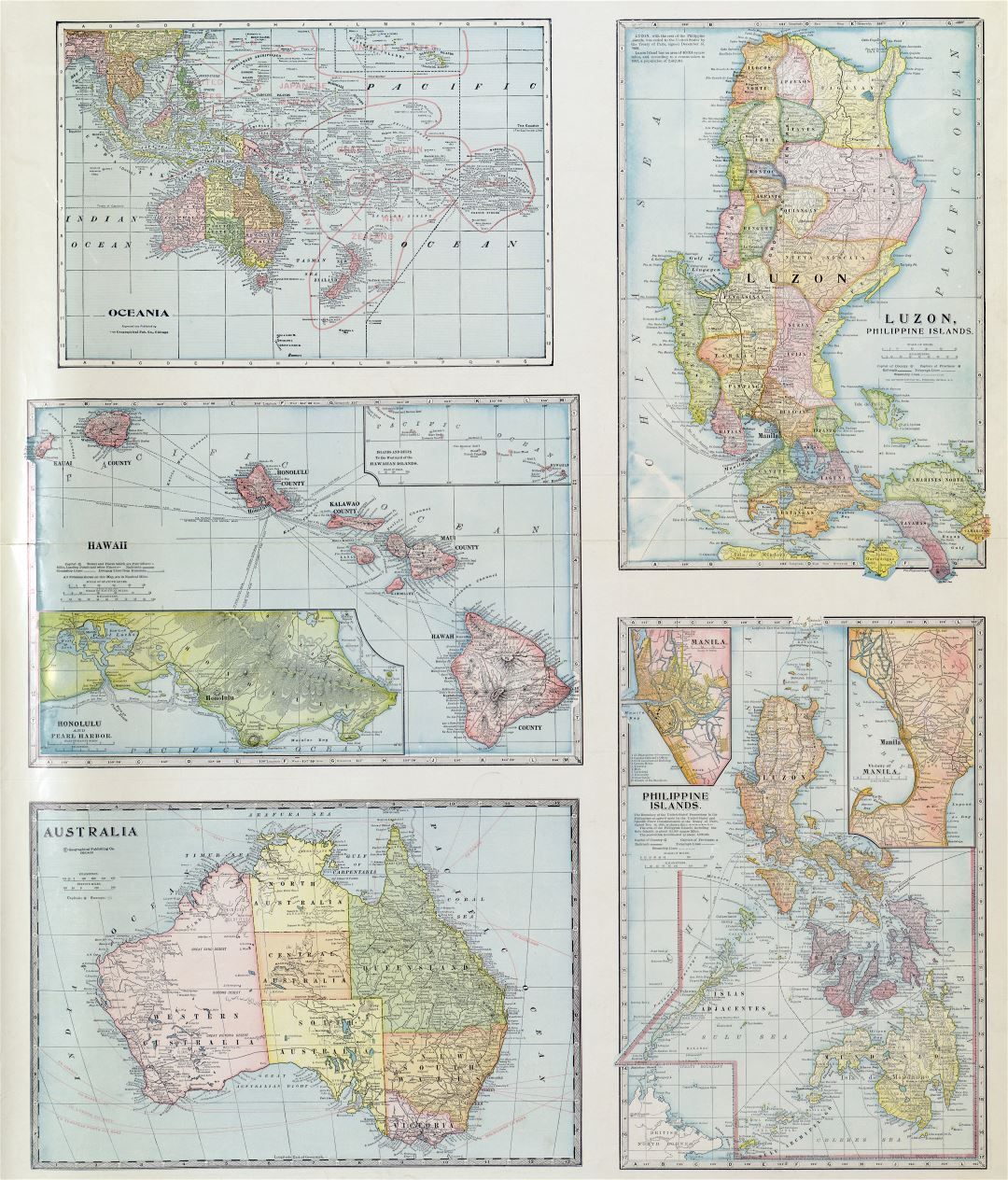 Large scale old political map of featuring countries of the Far East with the marks of cities and other marks - 1932 - (2)