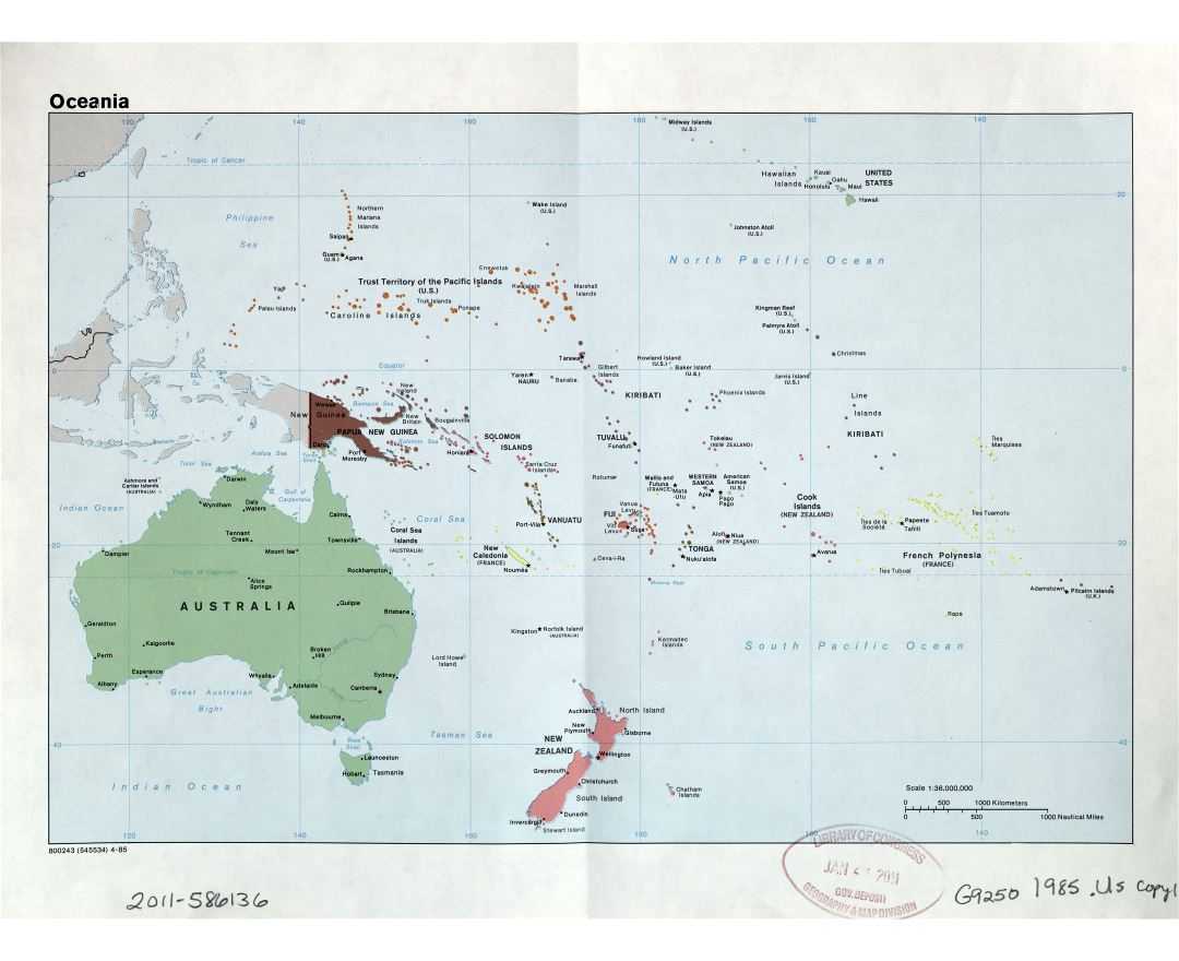 Political Map Of Australia With Capitals.Map Of Australia And New Zealand With Capitals