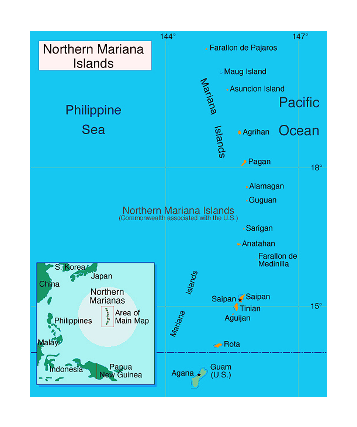 Detailed political map of Northern Mariana Islands | Mariana Islands ...