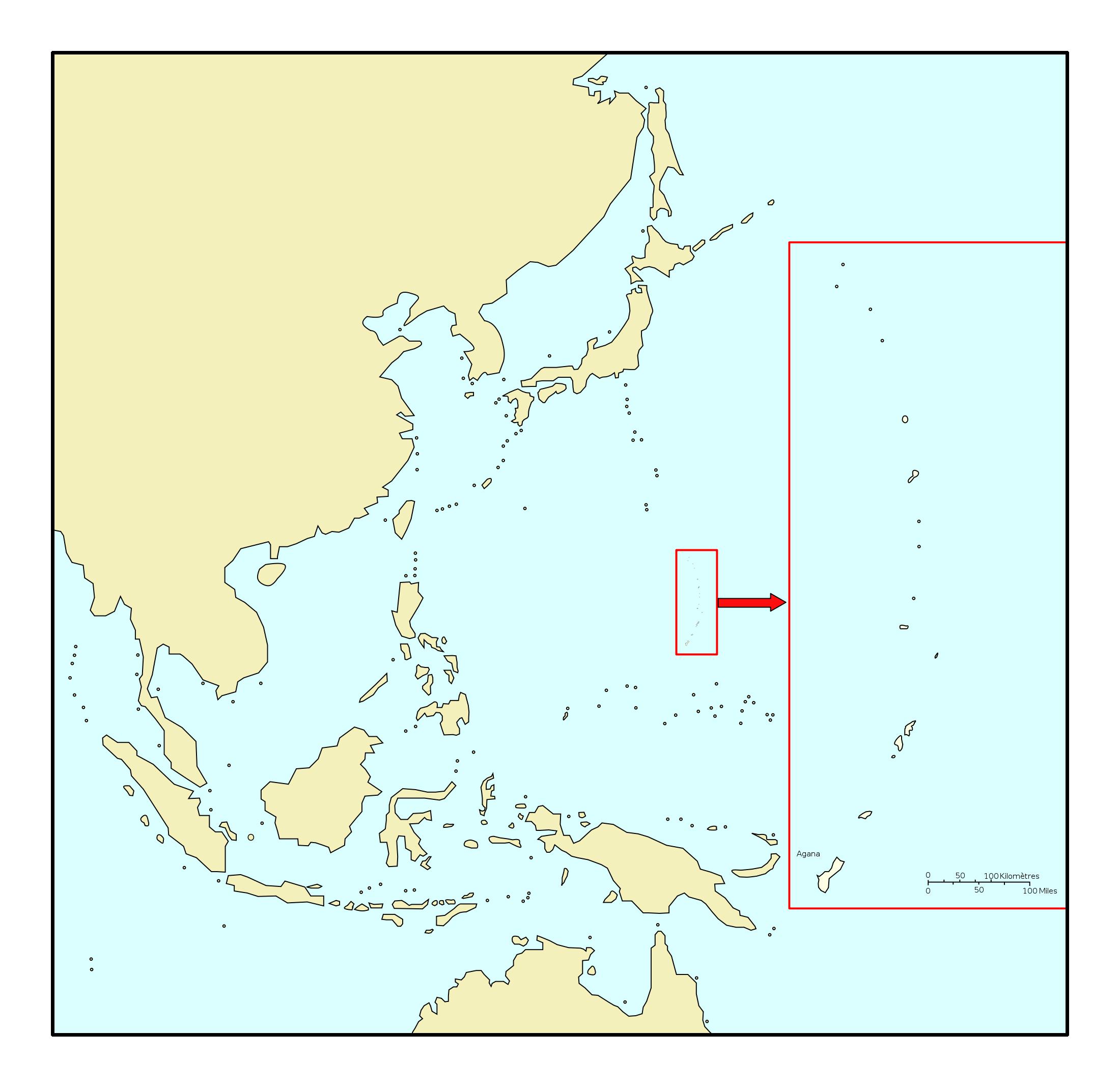 Large location map of Mariana Islands Mariana Islands Oceania