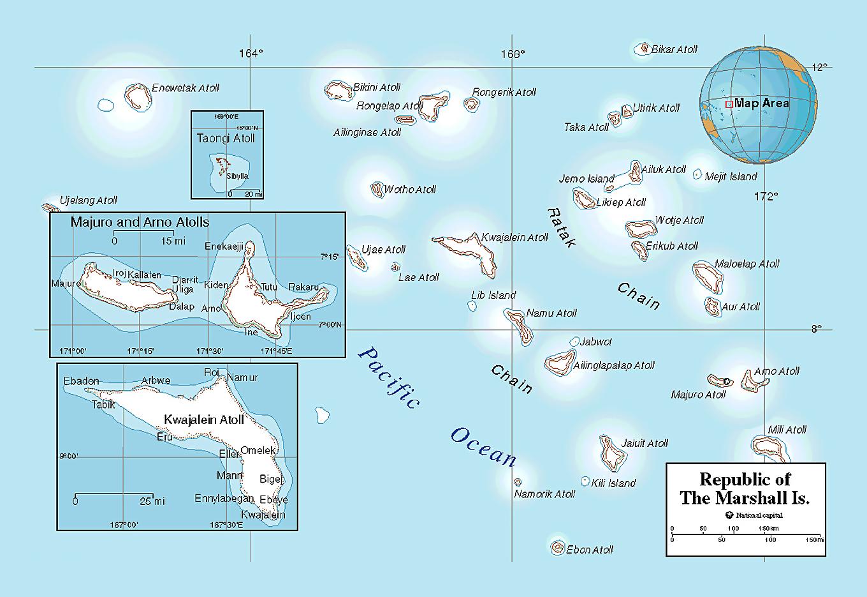 Political map of Marshall Islands   Marshall Islands   Oceania ...