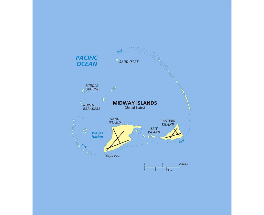 Maps Of Midway Islands Collection Of Maps Of Midway Atoll