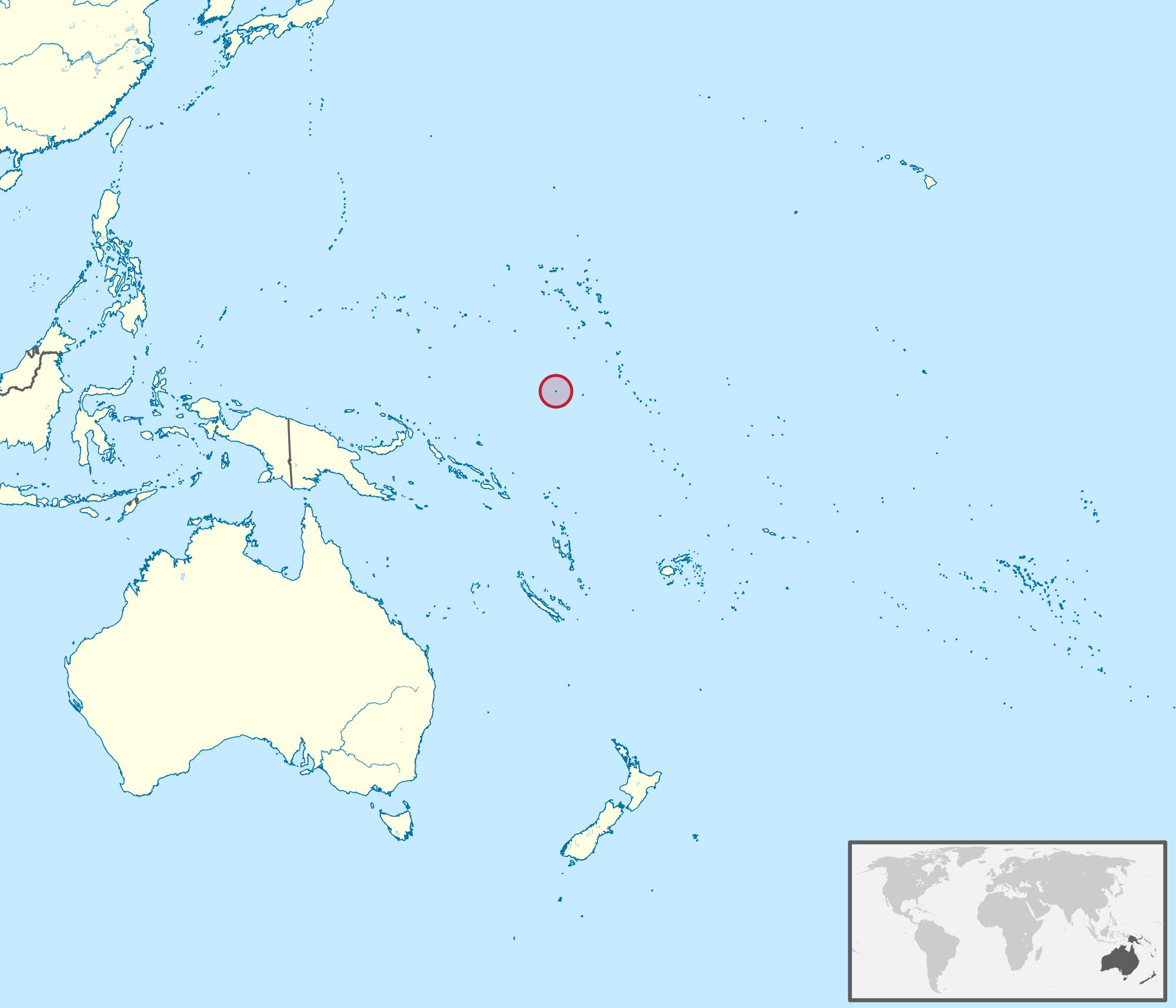 Large location map of Nauru in Oceania Nauru Oceania Mapsland