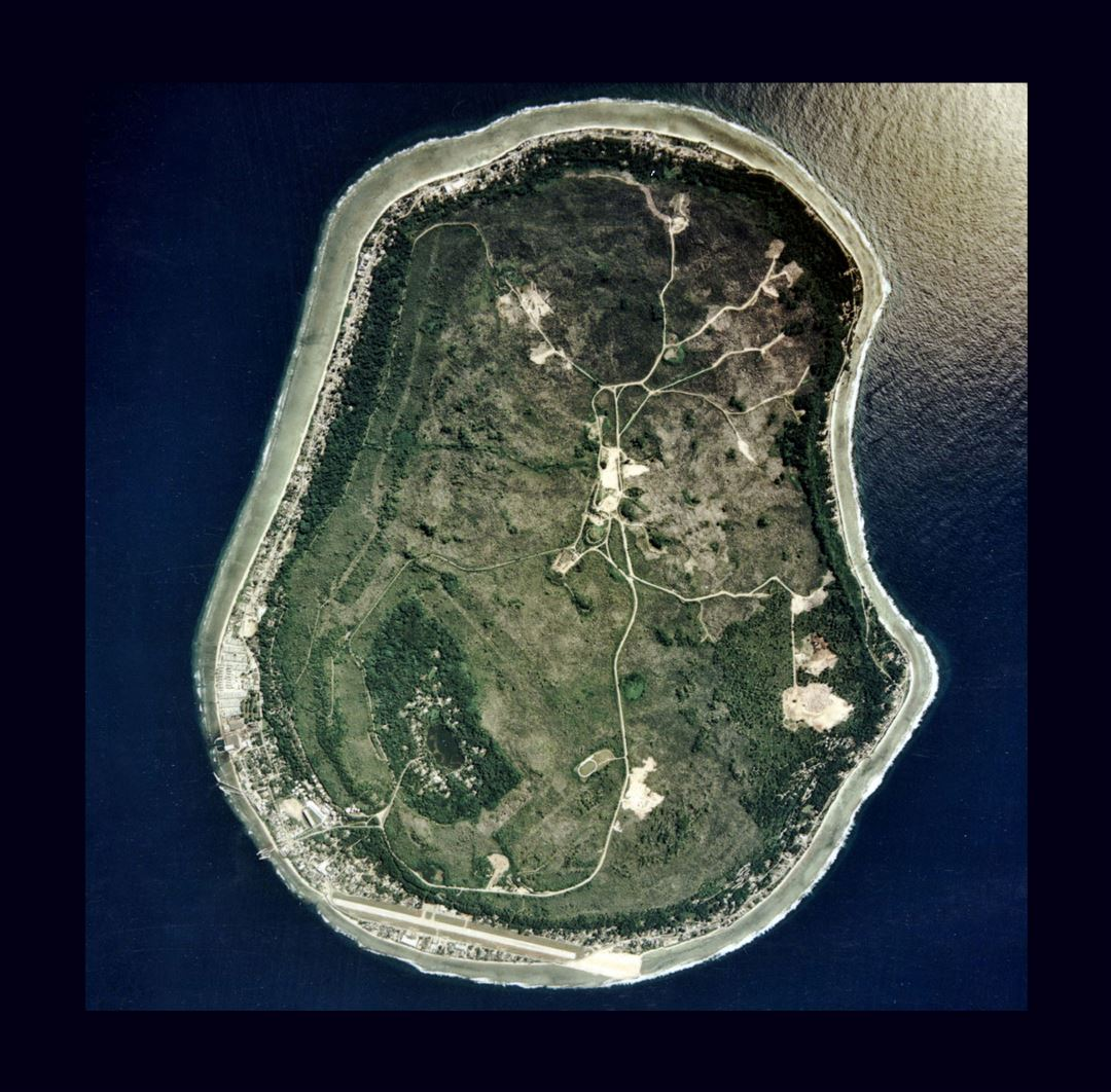 Large satellite map of Nauru