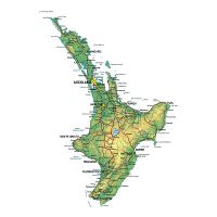 Detailed Map Of New Zealand South Island.Detailed Map Of South Island New Zealand With Other Marks New