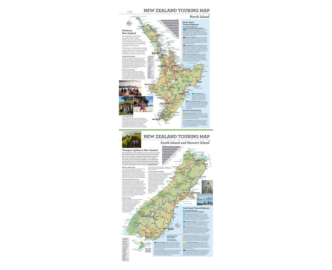 Detailed New Zealand tourist map