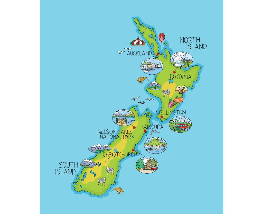Map Of New Zealand North Island.Maps Of New Zealand Collection Of Maps Of New Zealand Oceania
