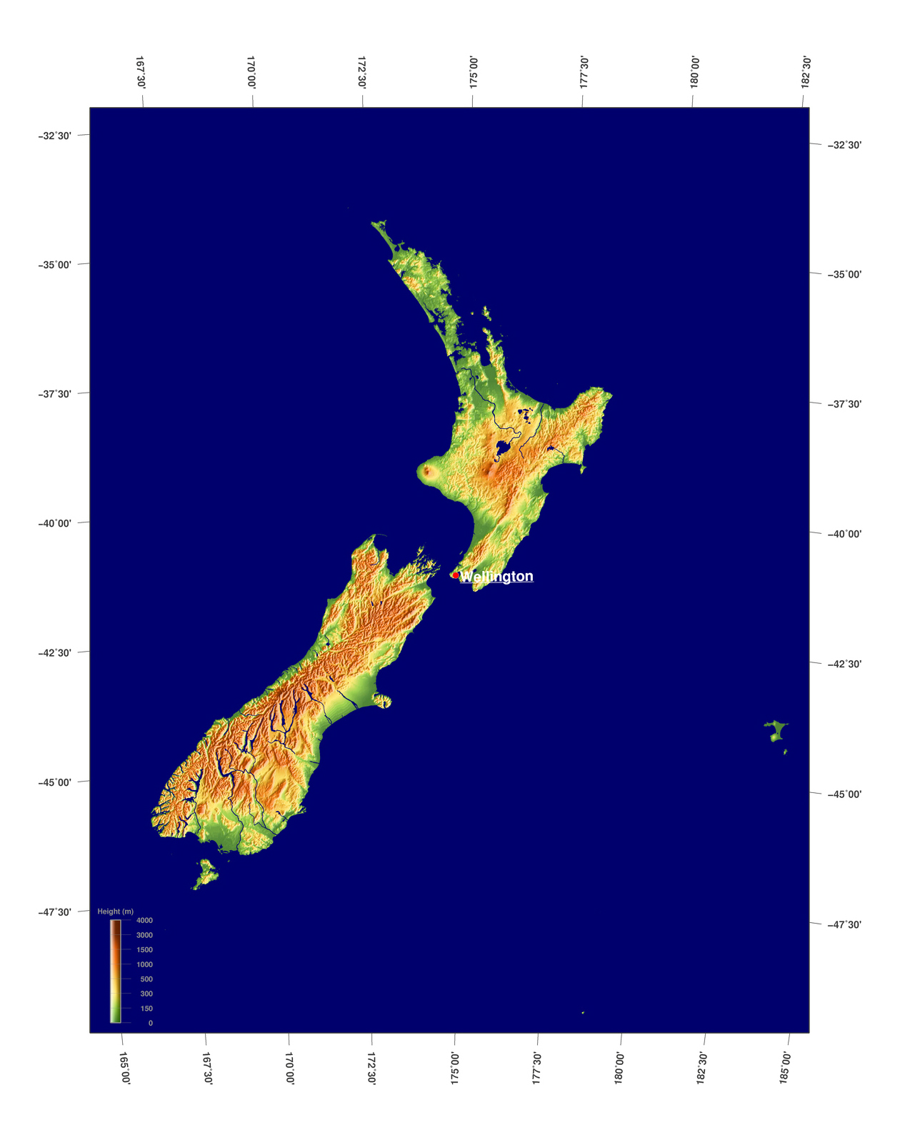 Physical Map Of New Zealand.Large Physical Map Of New Zealand New Zealand Oceania Mapsland
