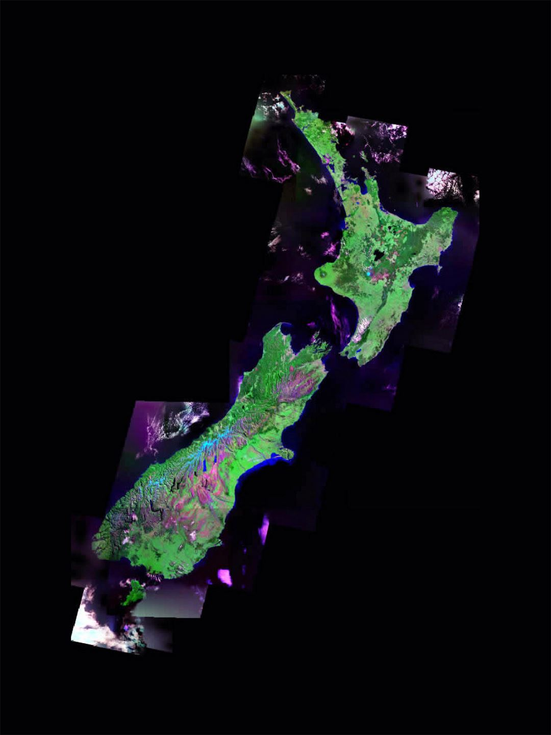 Small satellite image of New Zealand