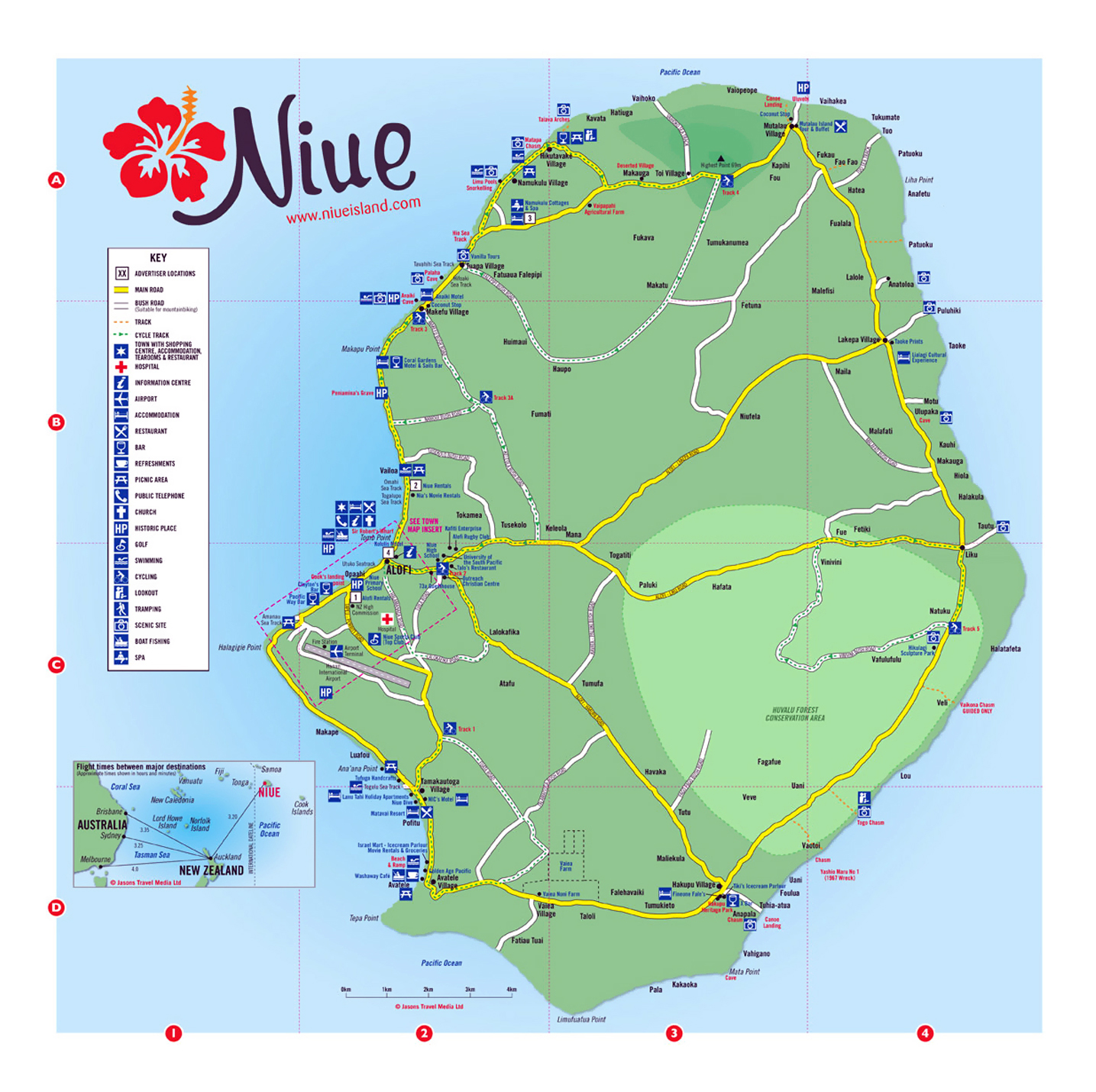 Detailed travel map of Niue Niue Oceania Mapsland Maps of