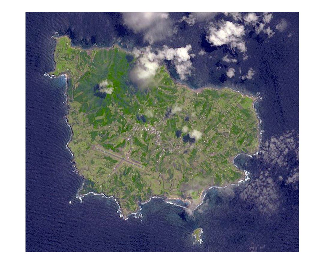Large satellite map of Norfolk Island
