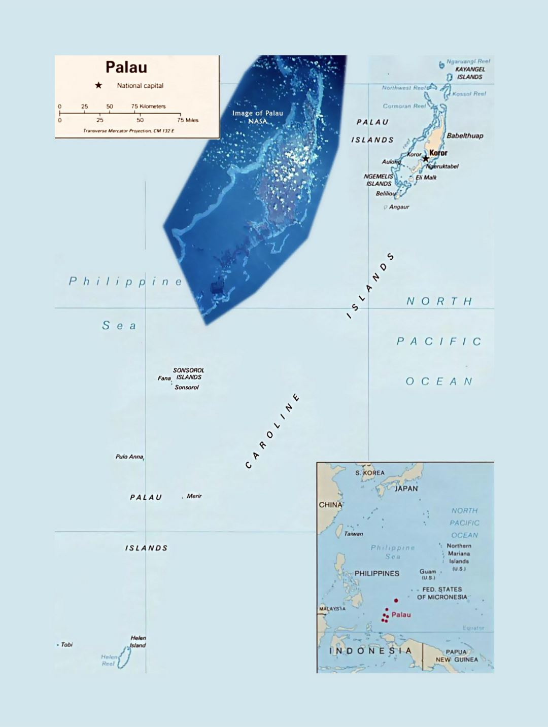 Picture of: Detailed Political Map Of Palau With Capital And Island Names Palau Oceania Mapsland Maps Of The World