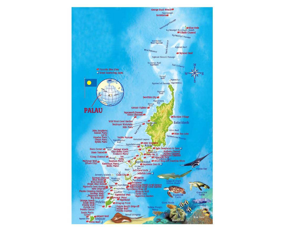 Maps Of Palau Collection Of Maps Of Palau Oceania Mapsland