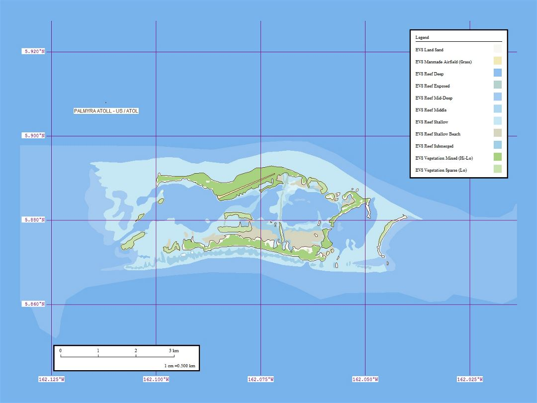 Large marplot map of Palmyra Atoll - 1:50,000