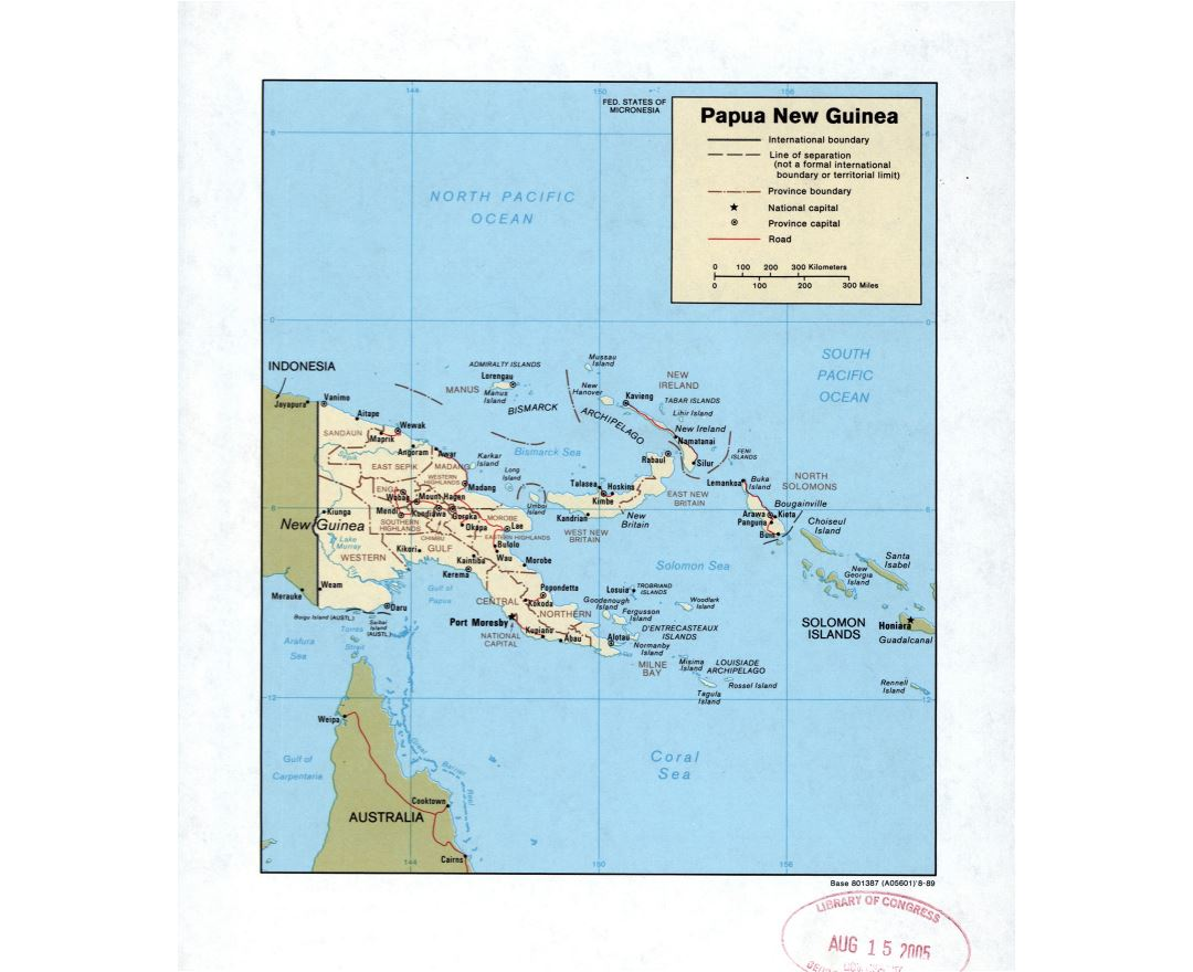 Maps of Papua New Guinea Detailed map of Papua New Guinea in