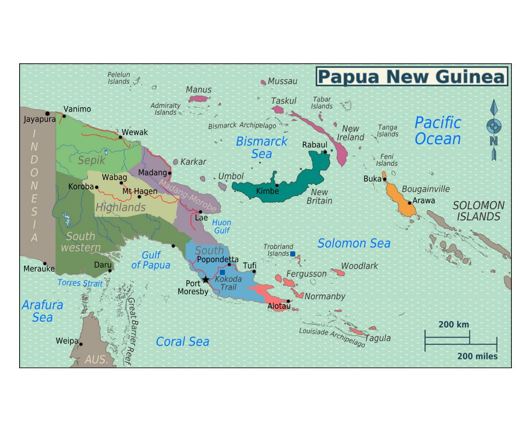 Maps of Papua New Guinea | Collection of maps of Papua New ...