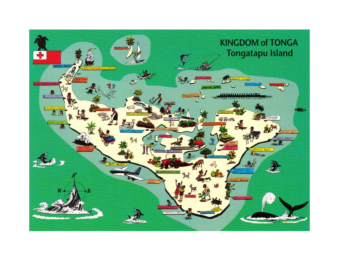 Detailed tourist illustrated map of tongatapu island tonga tonga detailed tourist illustrated map of tongatapu island tonga publicscrutiny Image collections