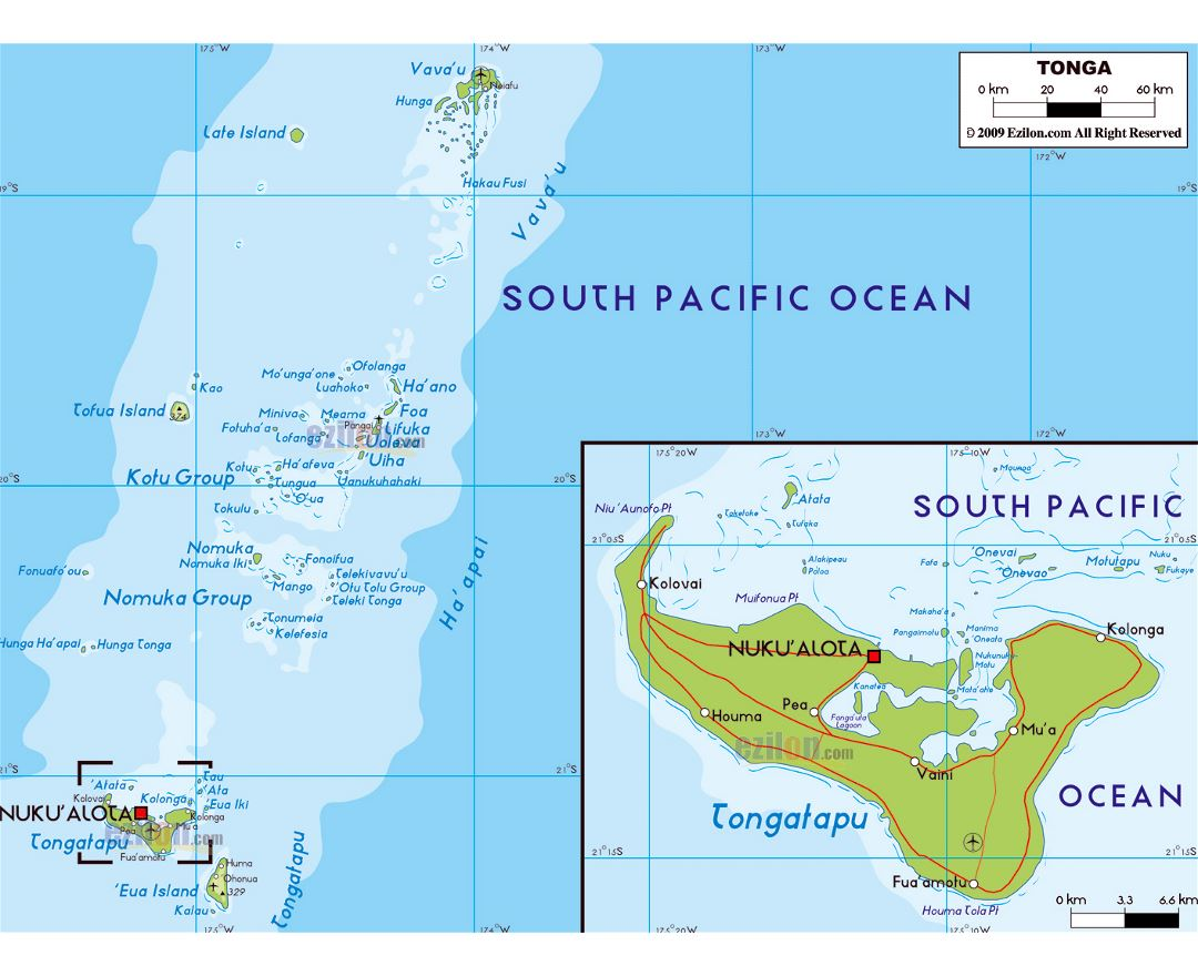 Maps of tonga detailed map of tonga in english tourist map large physical map of tonga with roads cities and airports publicscrutiny Image collections